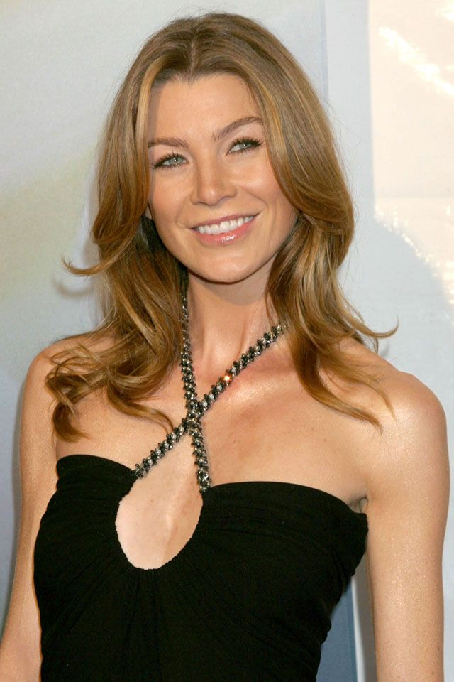 Ellen Pompeo This Hollywood Actress Is A Natural Beauty Ellen Pompeo Hairstyles Hair Styles Meredith Grey Hair