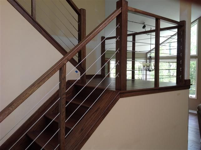 View our work staircase design stairway remodeling for Indoor railing designs