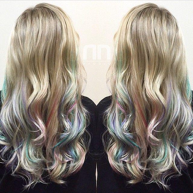 Pastel Balayage Blonde Hair