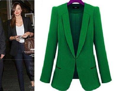 Marynarka Zakiet Damska Zielona Slim Dluga L 40 5150206506 Oficjalne Archiwum Allegro Fashion Suit Jacket Women S Blazer