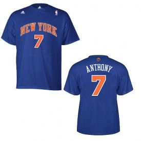 adidas Knicks Carmelo Anthony Road Game Time T-shirt