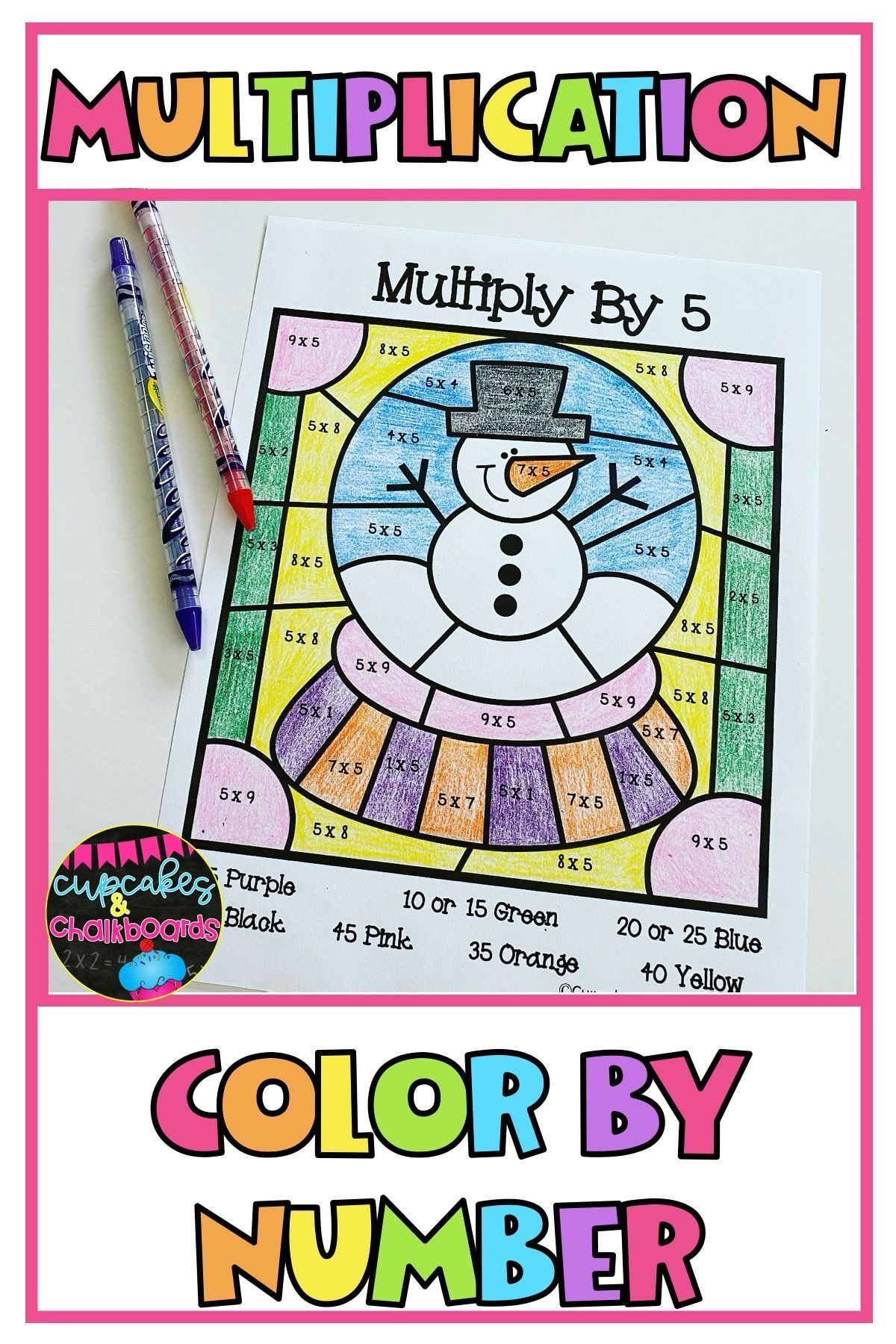 Winter Multiplication Facts Color By Number Worksheets Multiplication Facts Math Lesson Plans Upper Elementary Math [ 1800 x 1200 Pixel ]