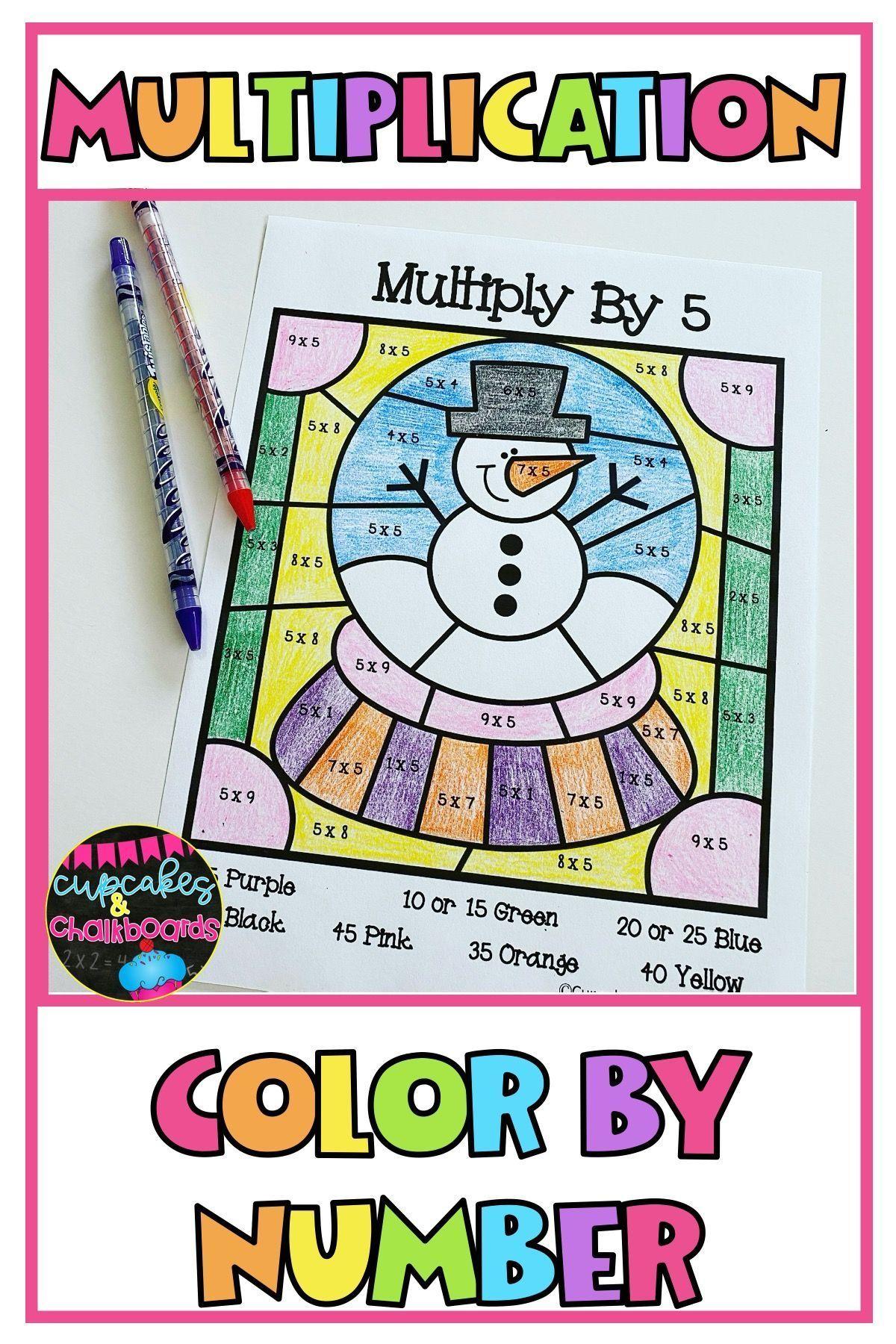medium resolution of Multiplication Facts Color By Number Worksheets   Multiplication facts