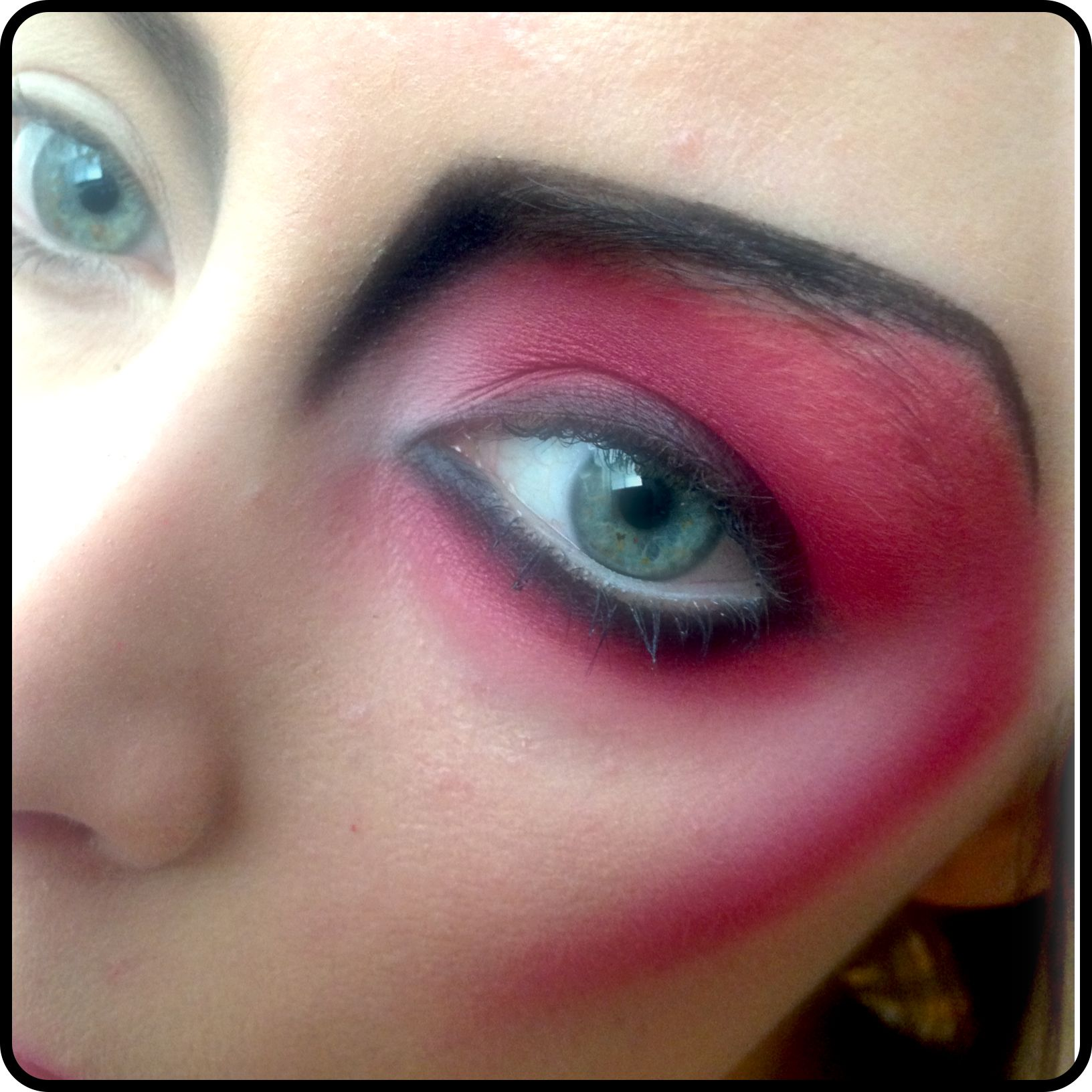 Practising a modern satan look for a clients party look