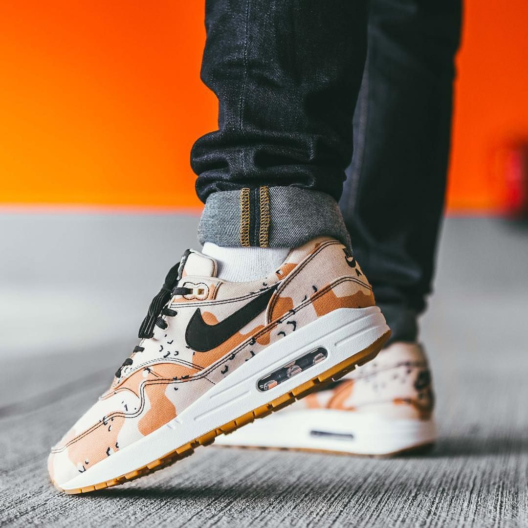 new style 8e693 4fc77 Release Date  July 5, 2018 Nike Air Max 1 Premium « Desert Camo » Credit   Afew