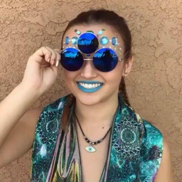 38d8da86fe87 Sunglasses Prince Tribute And EDC Style Third Eye Sunglasses by Shivas  Includes Free Case