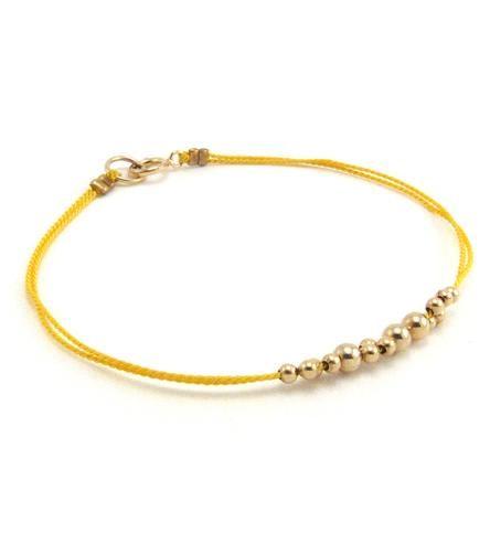 Little Leo Gold Beaded Bracelet Strings 'n spheres
