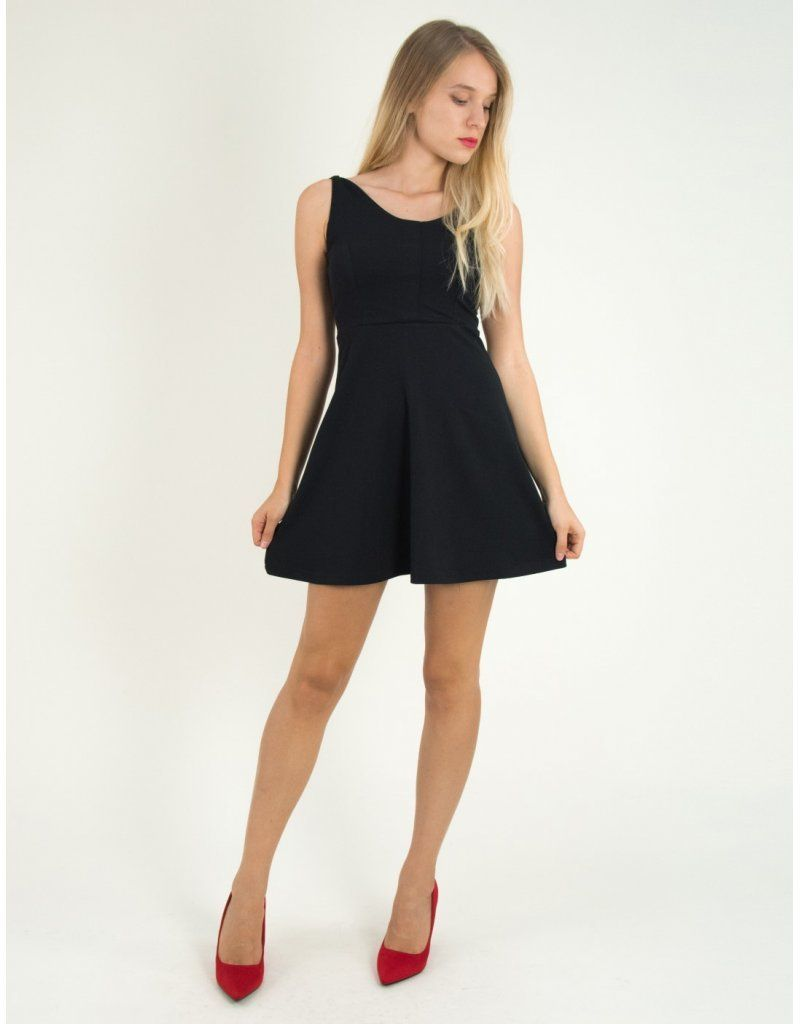 47f1c275b53 Γυναικείο μαύρο κλος φόρεμα Benissimo 91729 #torouxo #torouxo ...