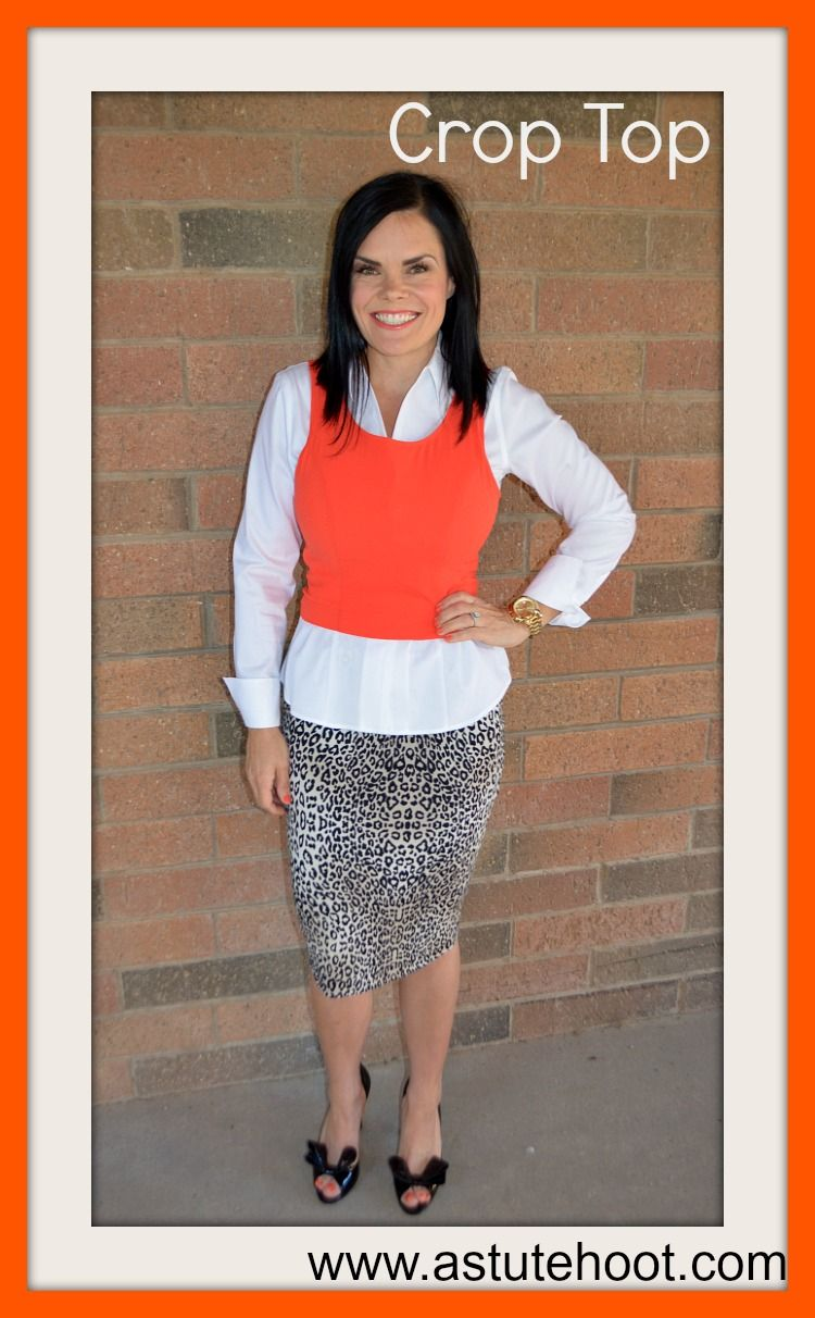 369abc325ef34c Check out this blog for great ideas for teacher outfits. Teaching In Style   5 Key Back to School Pieces Crop Tops  Crop tops are the latest trend  ...