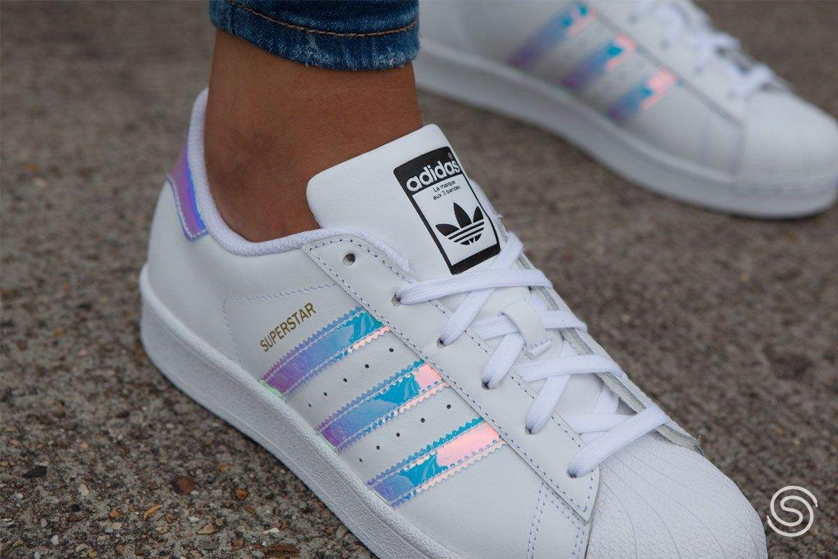 adidas Superstar Holographic Wit voor Dames | Adidas