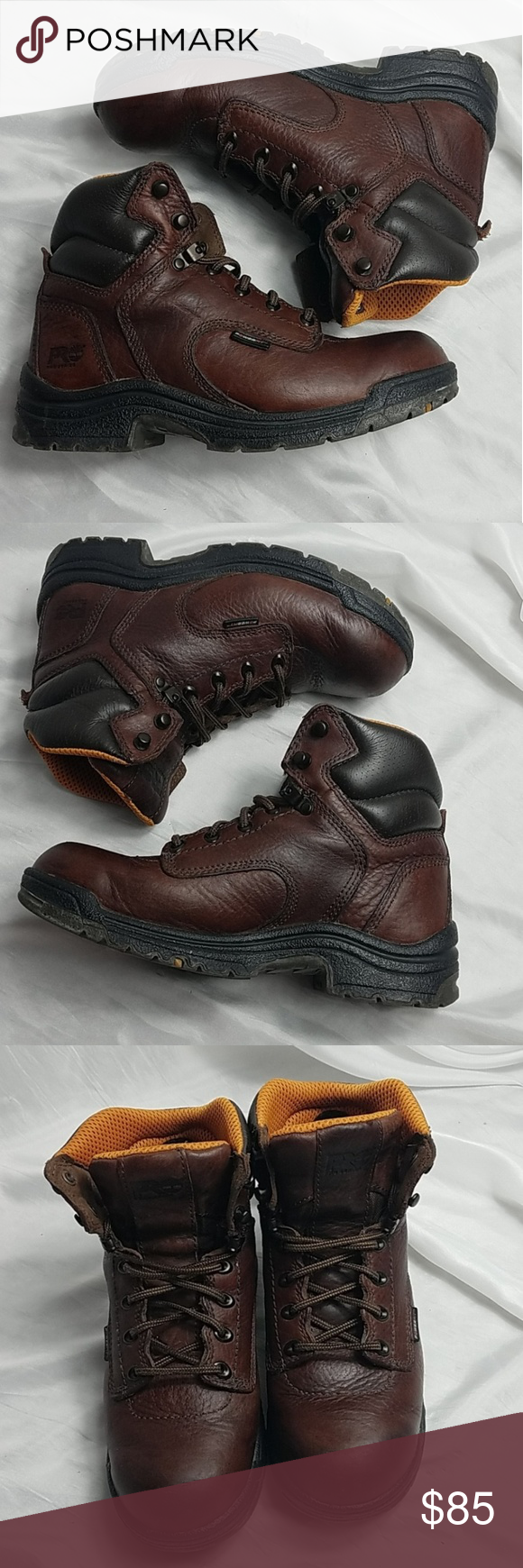 Timberland Womens Pro Series Leather Work Boots 8W