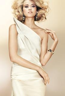 Donna Karan, off white wedding