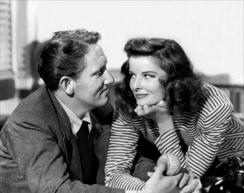 Spencer Tracy  and Katharine Hepburn in Woman of the Year directed by George Stevens, 1942