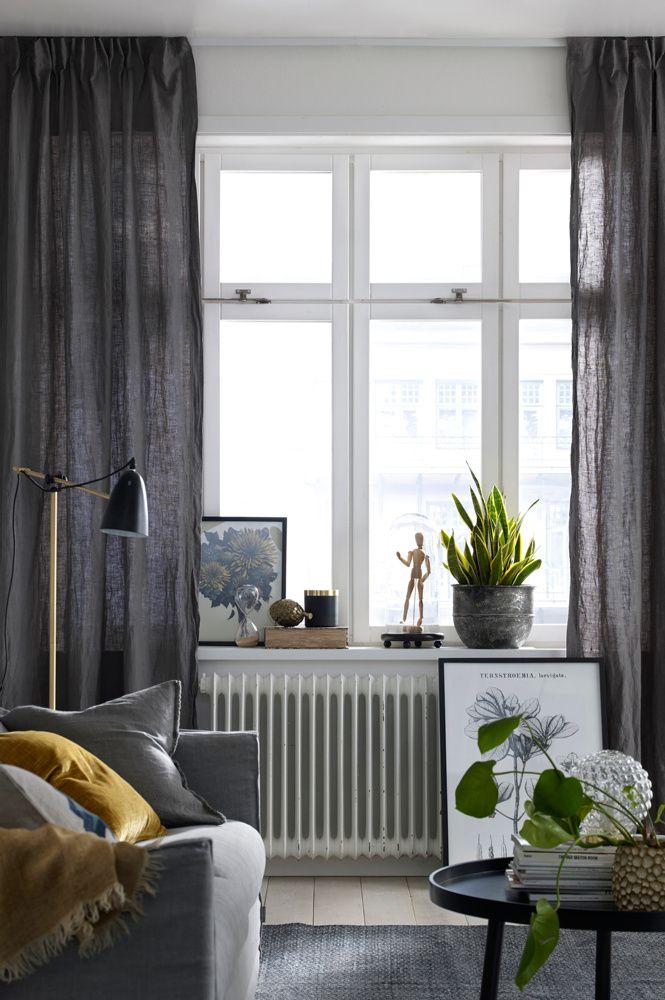 Linen curtains | Ellos Home