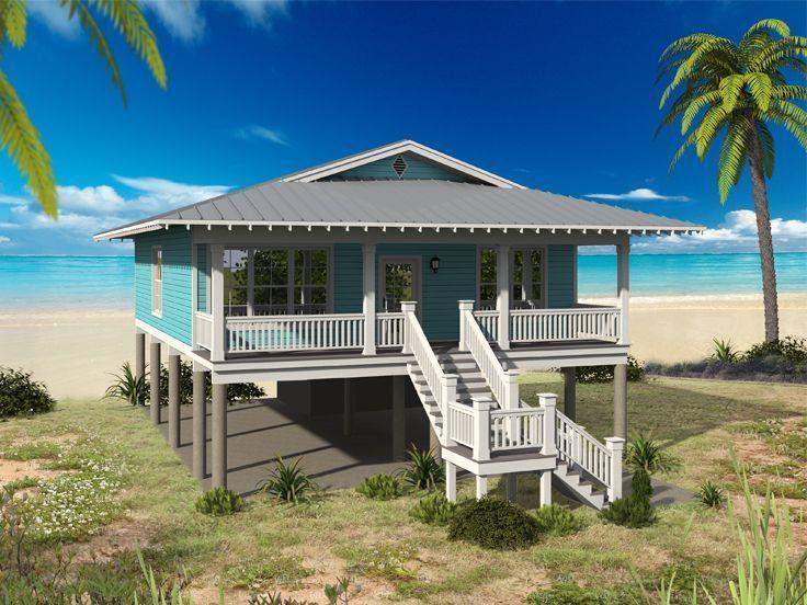 062H-0122 Beach House Plan #BeachDestination Beach cottage style