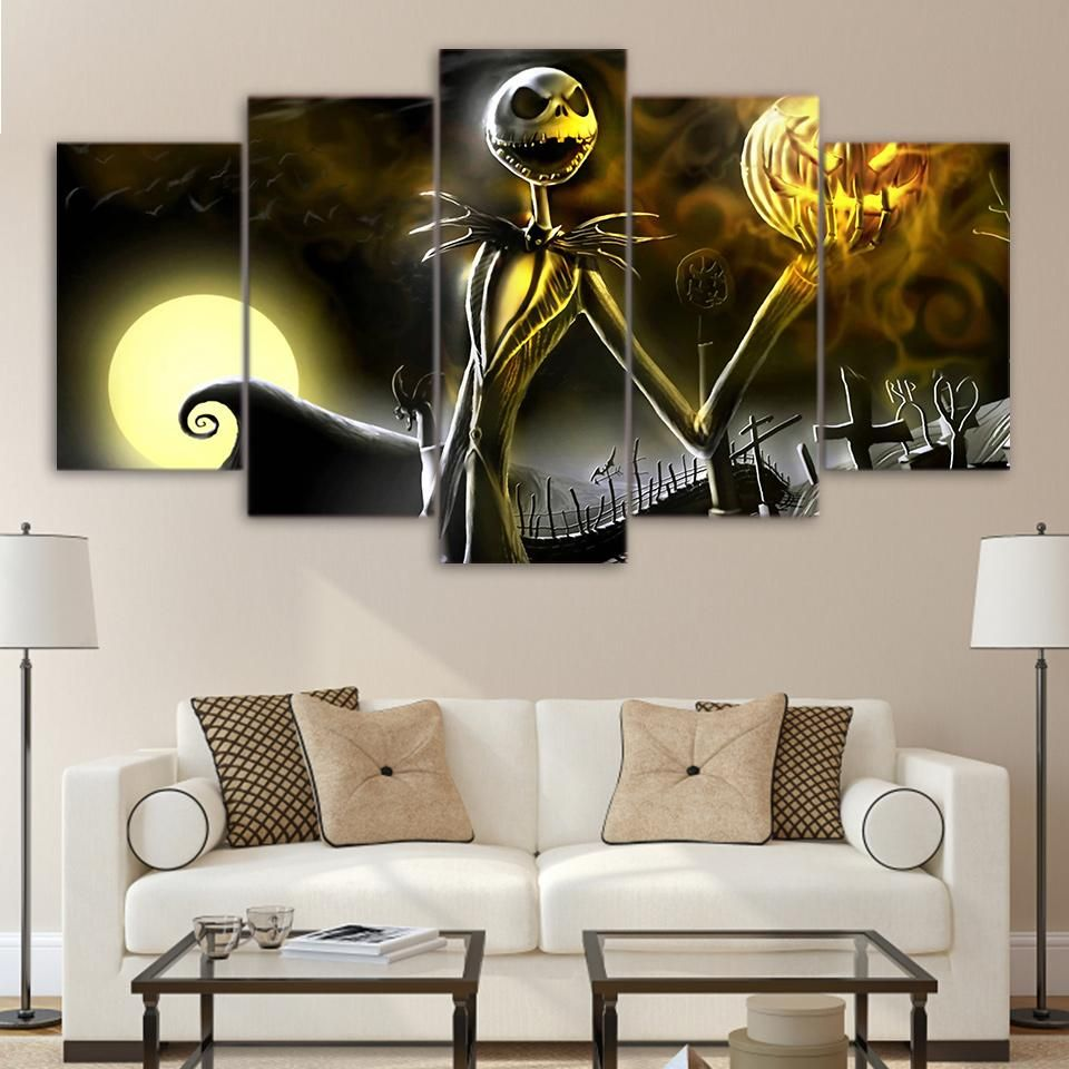 Artsailing Hd 5 Piece Canvas Art Painting The Nightmare Before