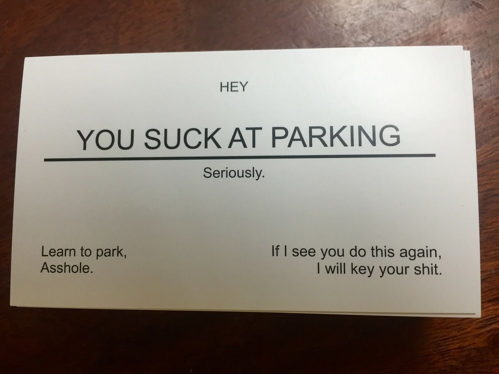 Business cards 50 funny white you suck at parking 999 business cards 50 funny white you suck at parking colourmoves