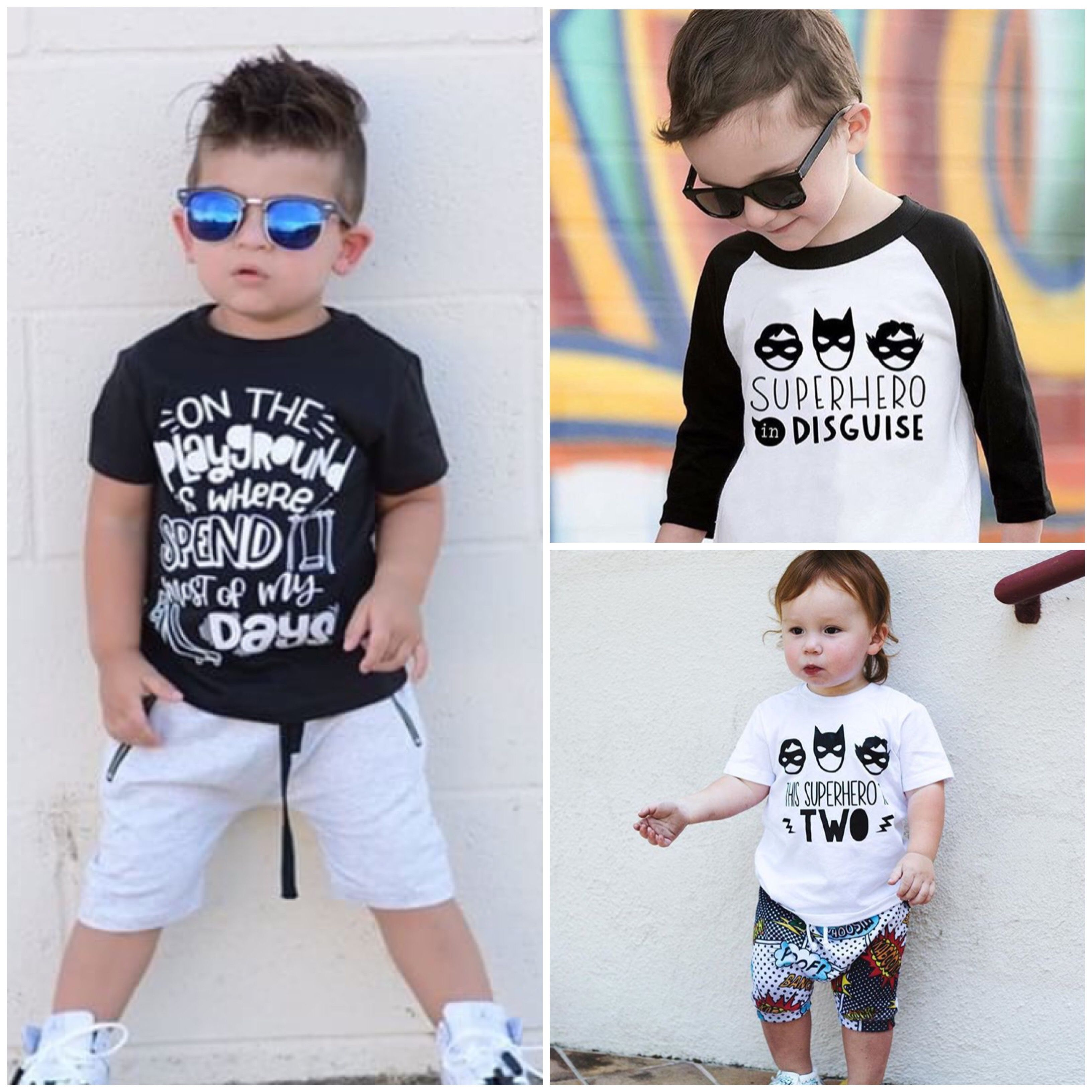 Trendy cool fashionable stylish tees and clothes for boys Toddler