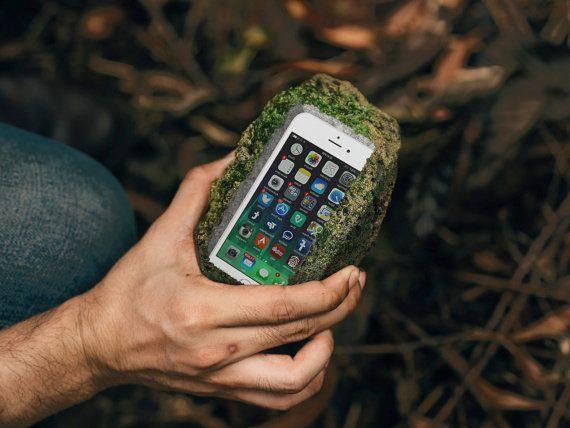 fake rock iphone case Hiding tonight by uvproductionhouse on Etsy