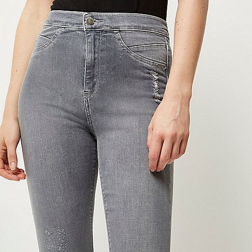 Grey high rise Molly skinny jeans - jeggings - jeans - women