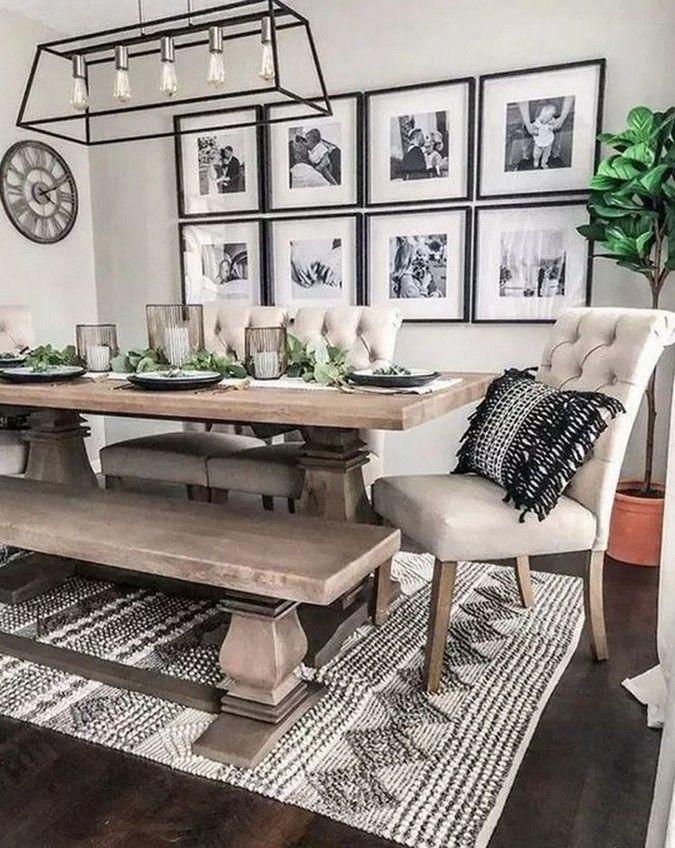 20 Cool Farmhouse Dining Room Decor Ideas 15 #diningroom
