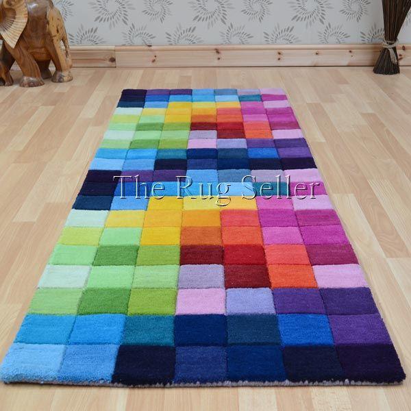 Funk Hallway Runners Multi Coloured Pure Wool