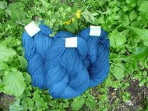 Merinogarn dünn pflanzengefärbt  Wolle Strickgarn