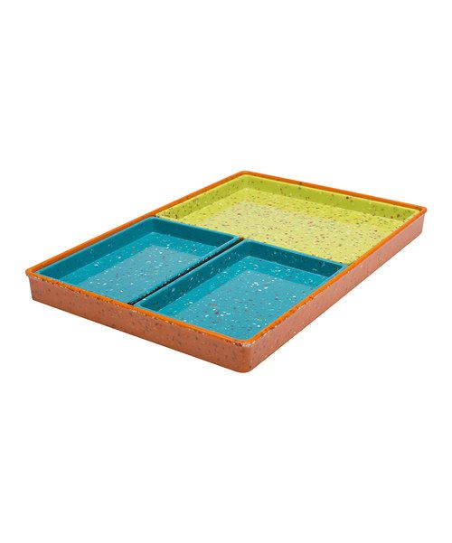 Look what I found on #zulily! Orange Confetti Four-Piece Mod Rectangular Tray Set by Zak Designs #zulilyfinds