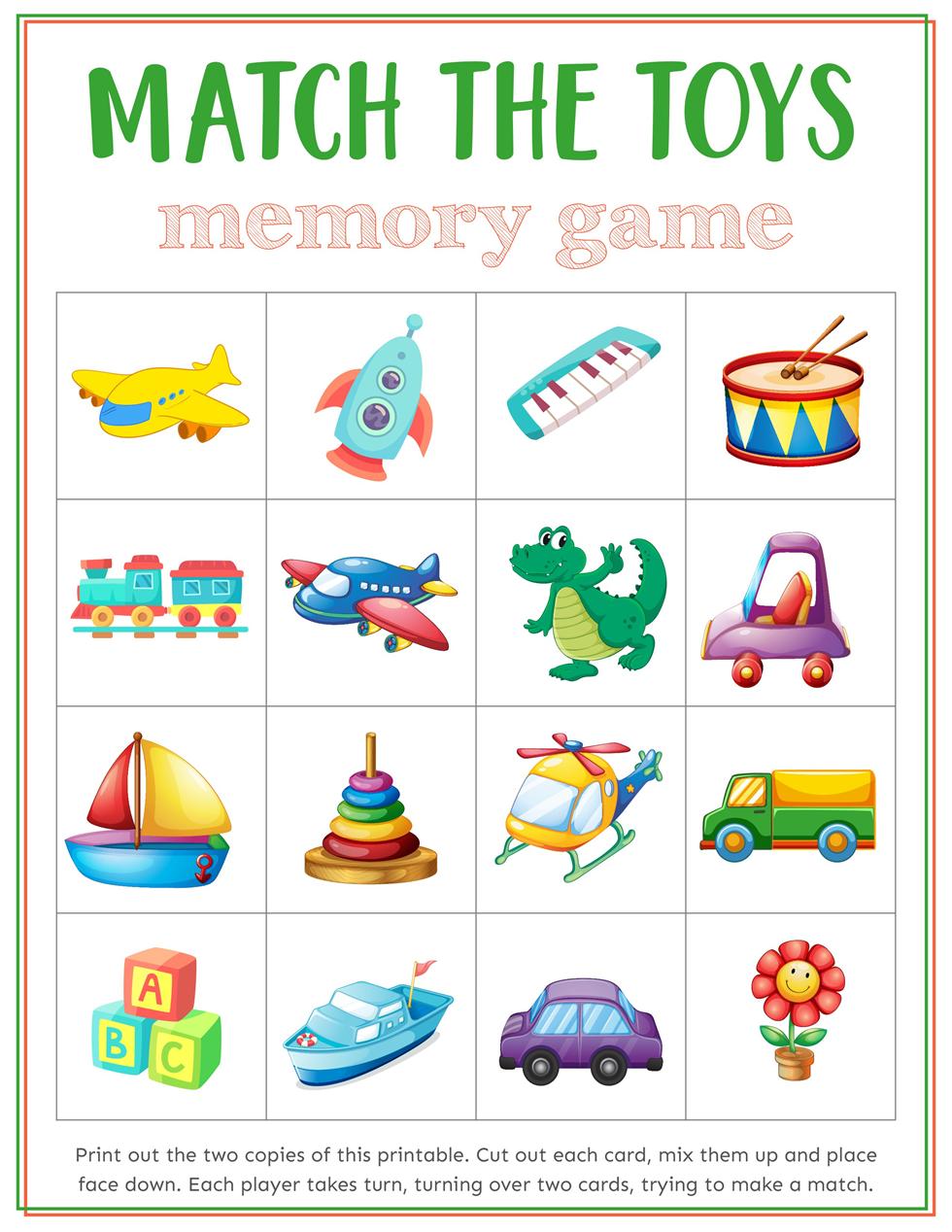 Kids Toys Memory Games Download Free Printable Memory Games Paper Games For Kids Game Download Free