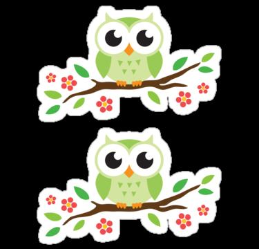 Cute Green Cartoon Owl On Floral Branch Stickers Sticker By Mheadesign Owl Cartoon Owl Quilt Pattern Cute Owls Wallpaper We offers cartoon owls trees products. cute green cartoon owl on floral branch