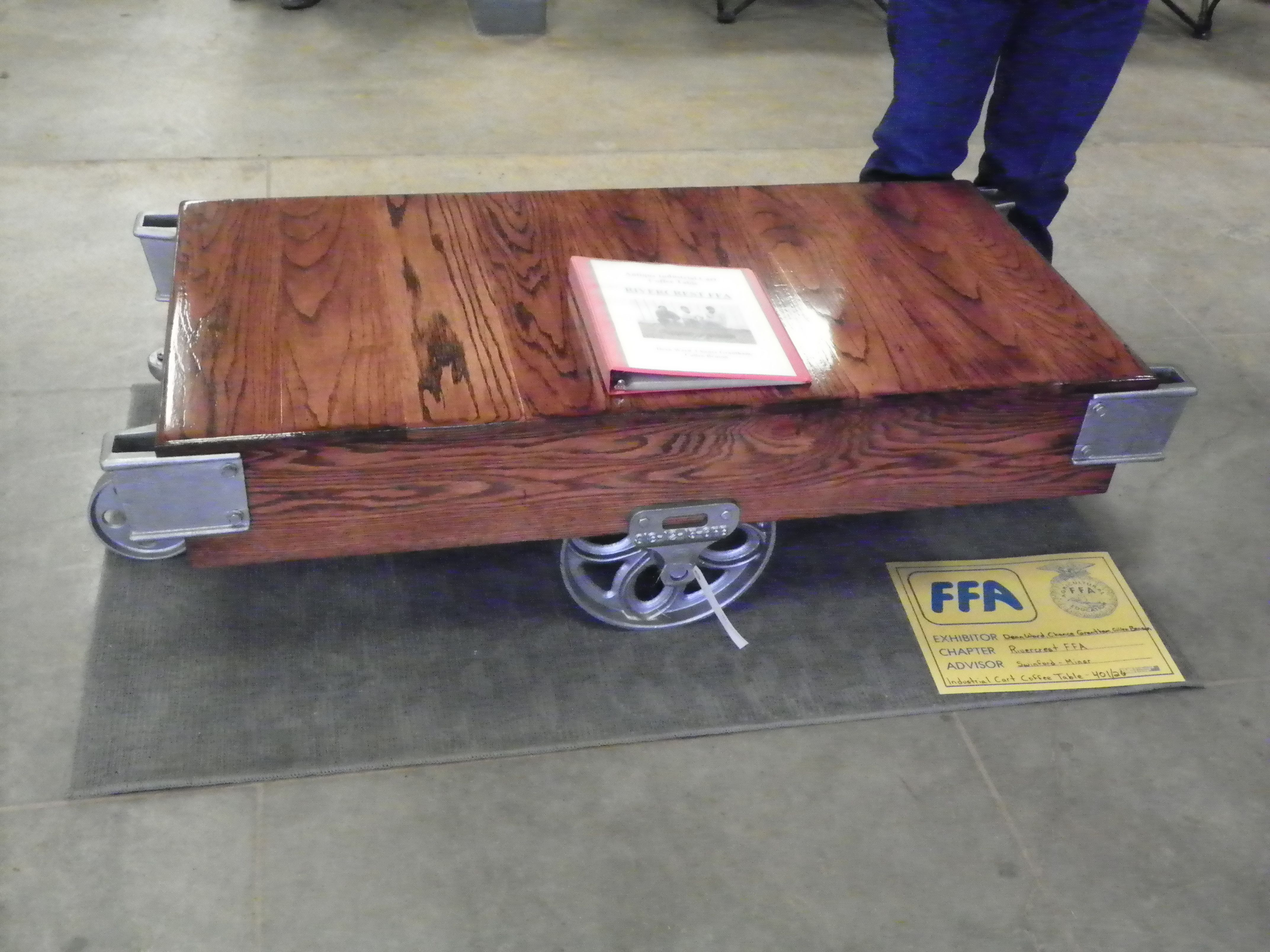 Restored Antique Industrial Cart Used for Coffee Table