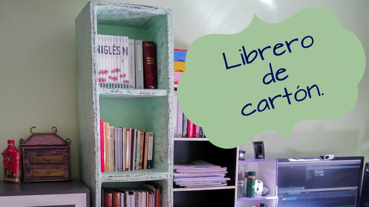 LIBRERO, ESTANTERÍA DE CARTÓN MUY RESISTENTE, IDEAS PARA ORGANIZAR ...