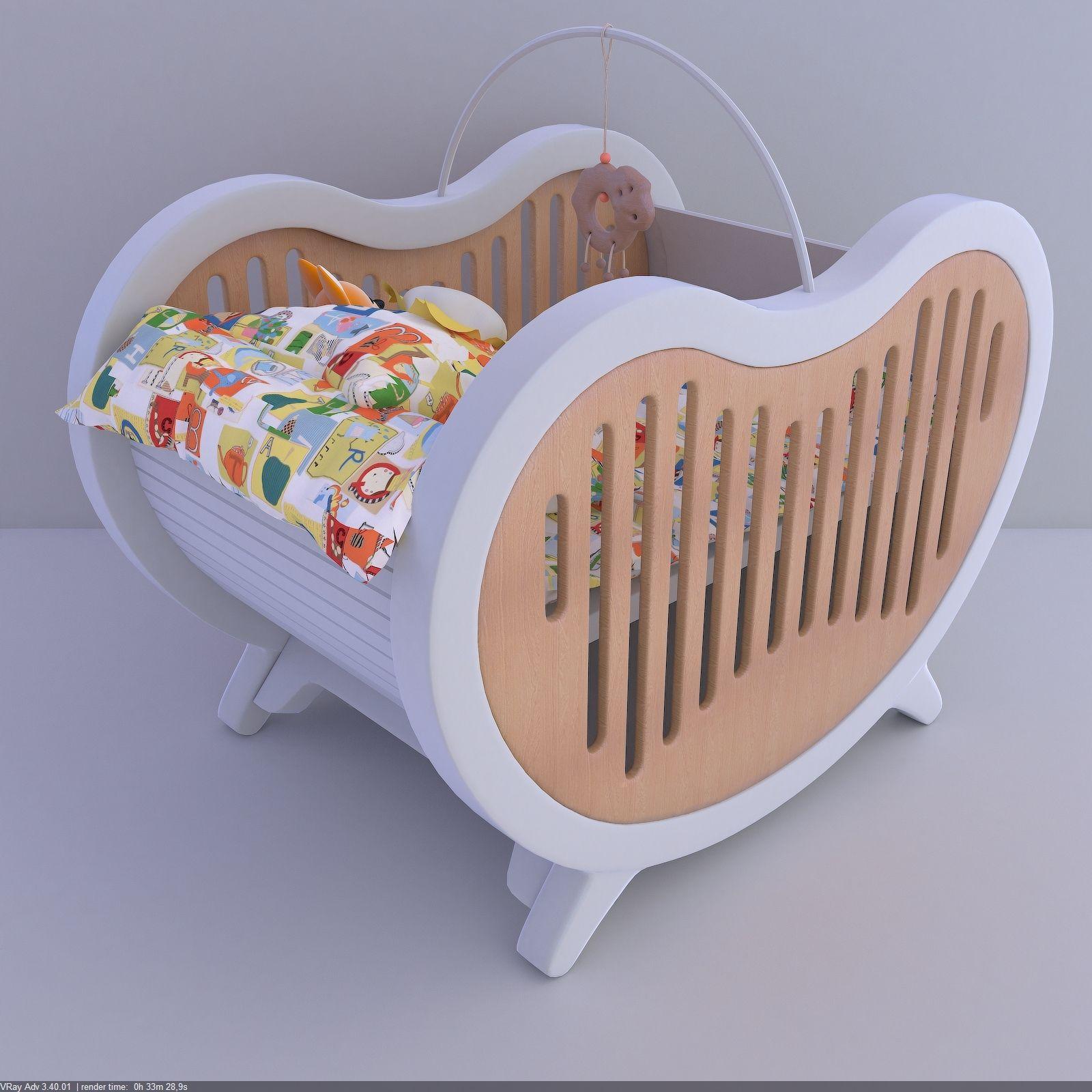 beaneasy dream crib 3d max Unique baby cribs, Kids