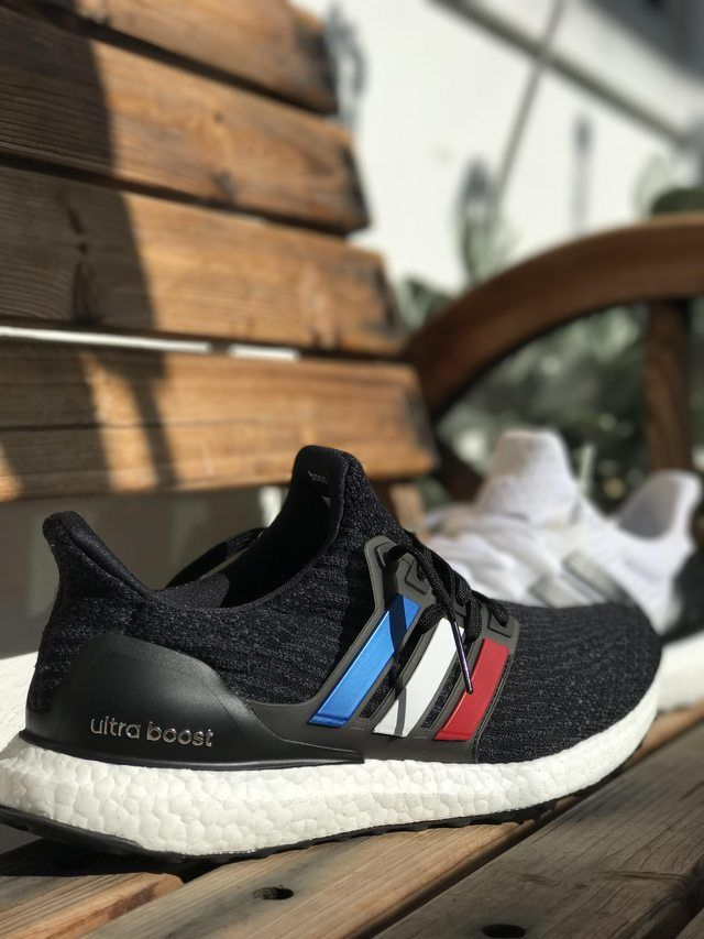 454d769197938 Adidas Tri Color Red White and Blue Core Black Ultra Boost Custom ...