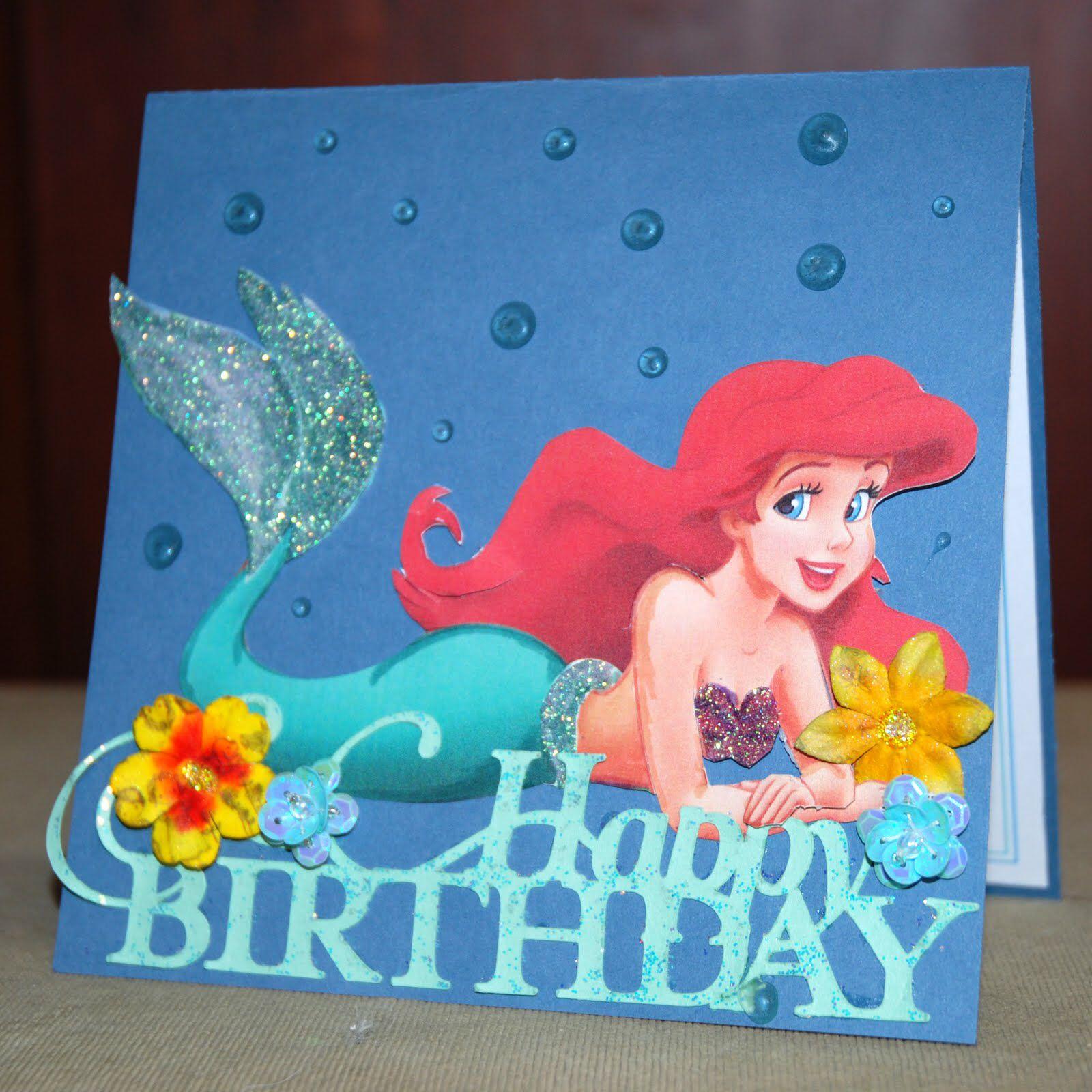 Pin By Scrapperch On Ariel Ideas Birthday Cards Dad Birthday Card Cards