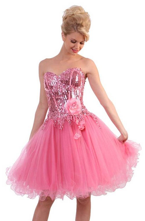 Short Pink Tail Dress For Prom
