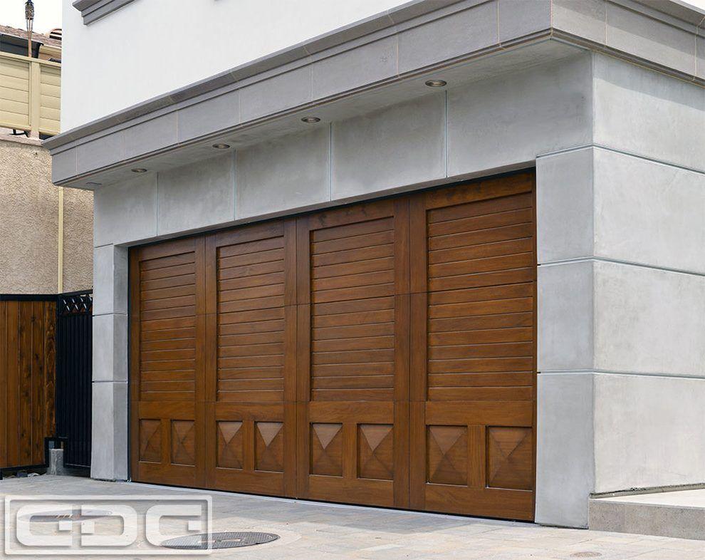 Beach Cottage Doors Garage Transitional With Mediterranean Garage