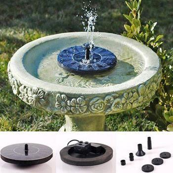 Solar Powered Easy Bird Fountain Kit - Great Addition to Your Garden - jardines navideos