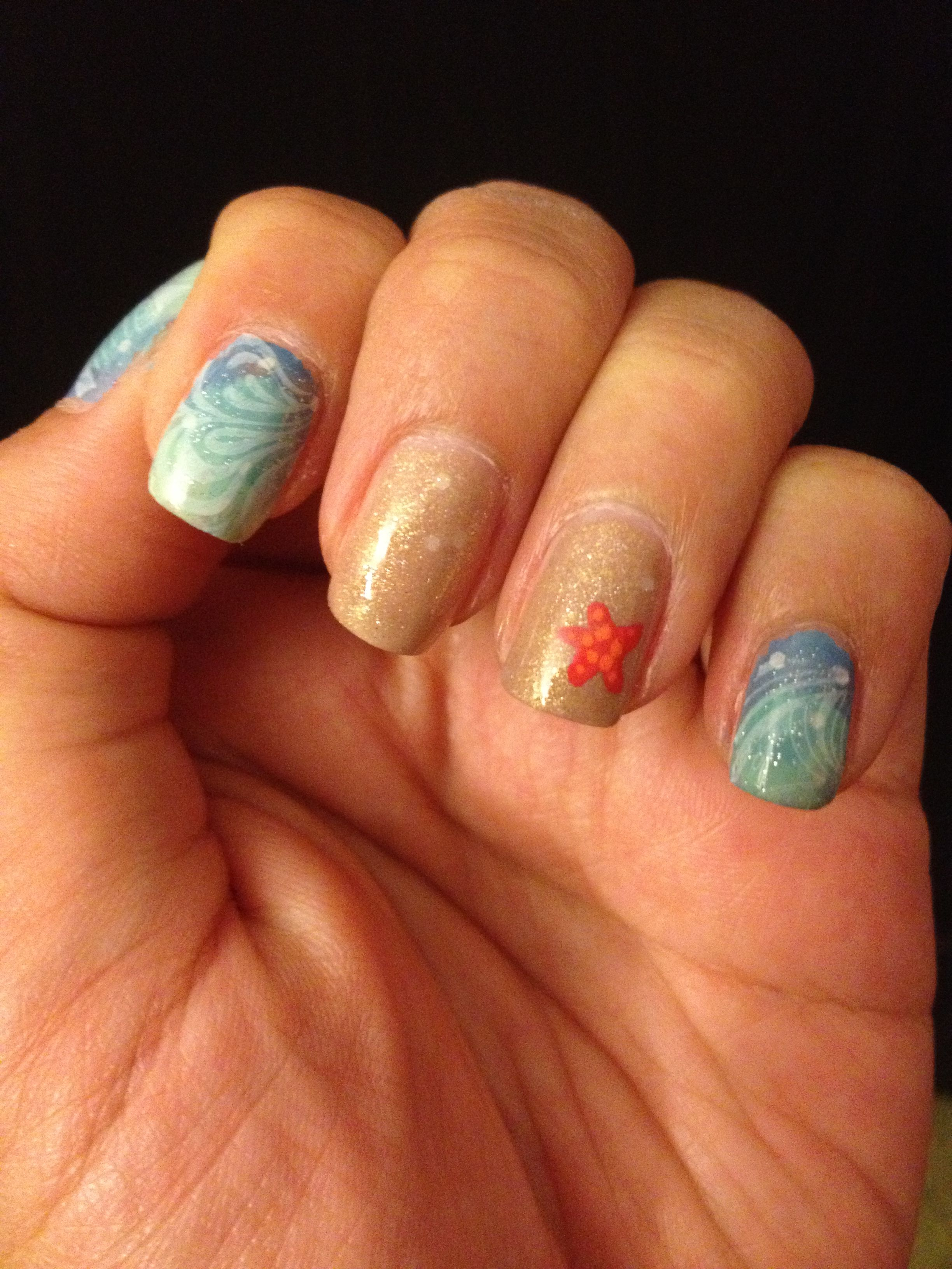 Beach Starfish Nail Art Amy Houseman Check Out The Starfish