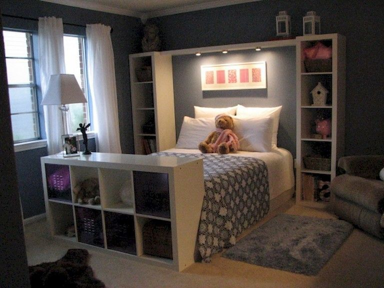62 Stunning Ikea Hacks Decorate Bedroom On A Budget Small Space Bedroom Small Master Bedroom Girls Bedroom Storage