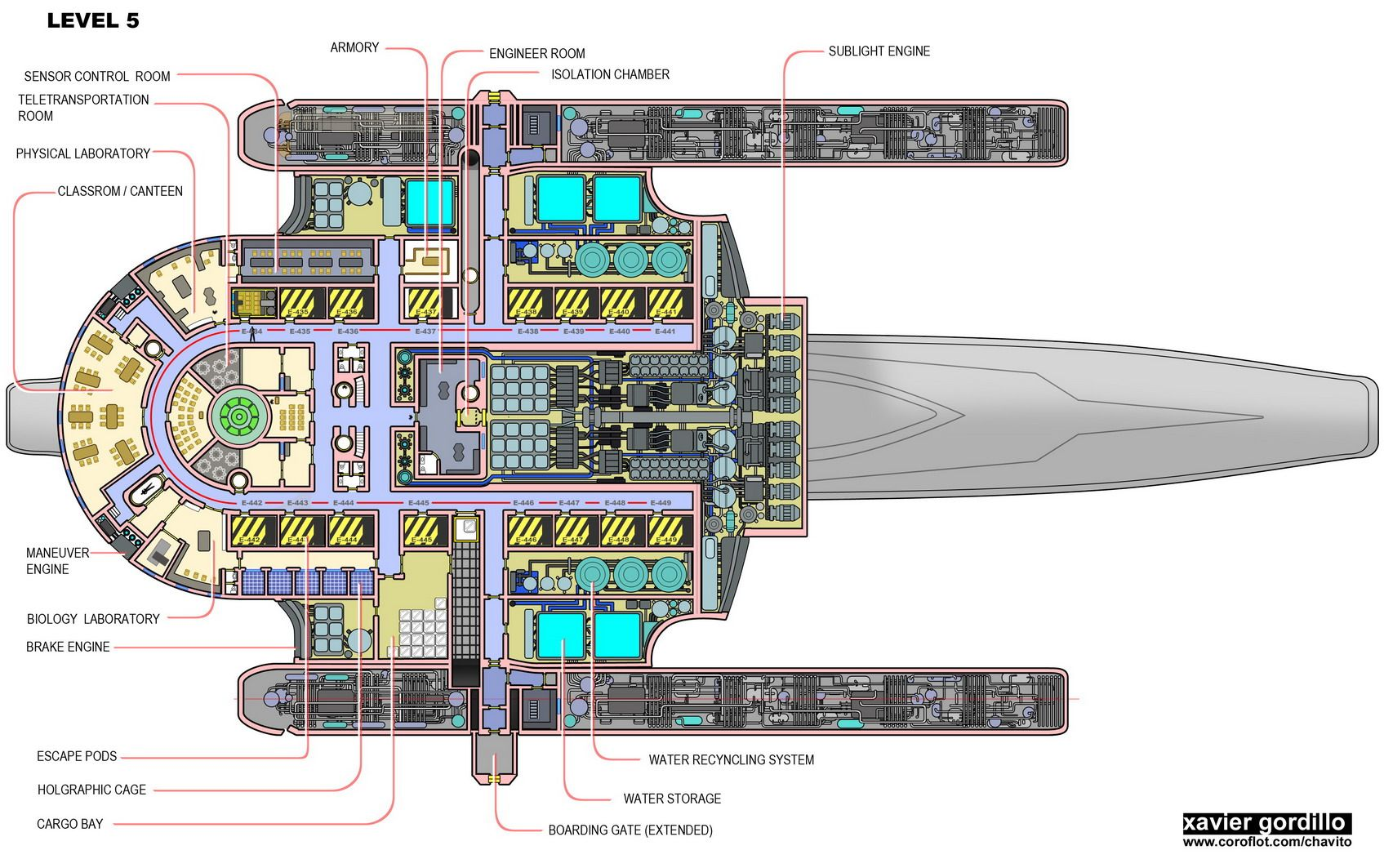 Beautiful Eight 297 Accurate Oberth Class Schematics Page 7 The Trek Bbs . Find This  Pin And More On Starship Deck Plans ...