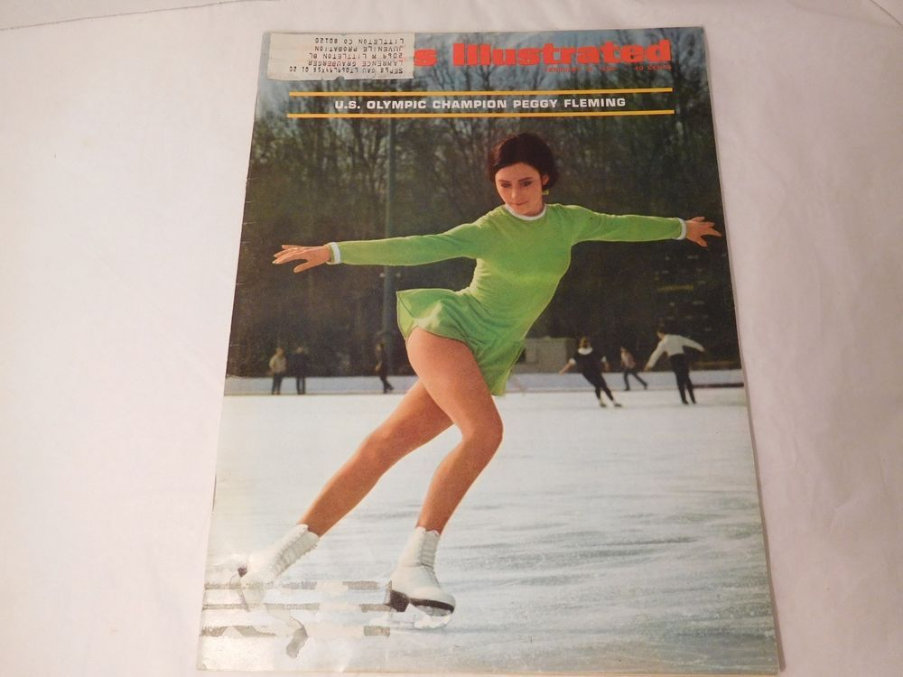Great Sports Illustrated Peggy Fleming 1968 Winter Olympics Skiing Ice Skating  Feb 68