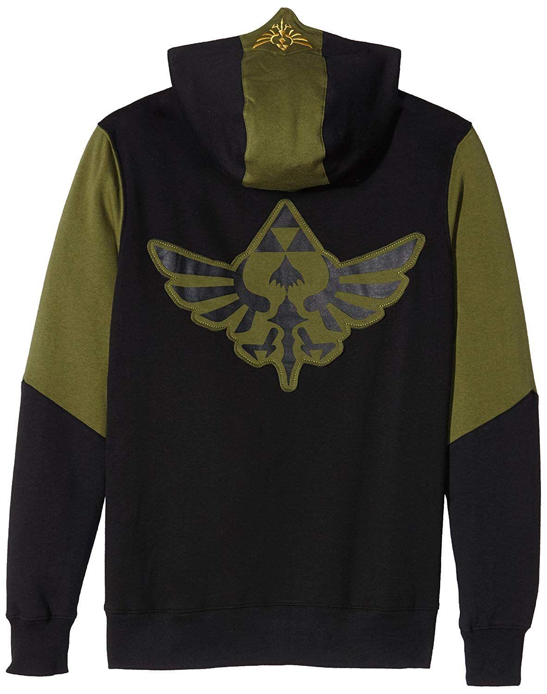 Green Sudadera Capucha Cremallera Triforce Con Legend Of Zelda The Bqwt6xa7q