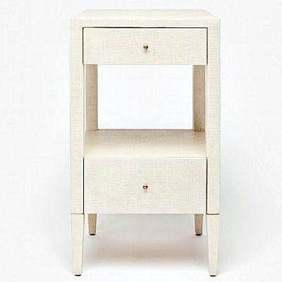 Terrific Conrad Single Nightstand Off White Raffia Furniture And Ncnpc Chair Design For Home Ncnpcorg