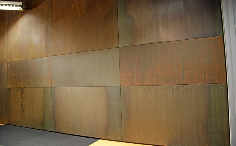 Amazing Interior Steel Wall Panels Come In Many Shapes And Colors. Using Up To  Steel And Any Of The Many Acid Patina Colors Brandner Design Offers The  Possibilities ...