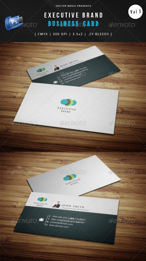 Executive Brand Business Card Vol 5 With Images Business
