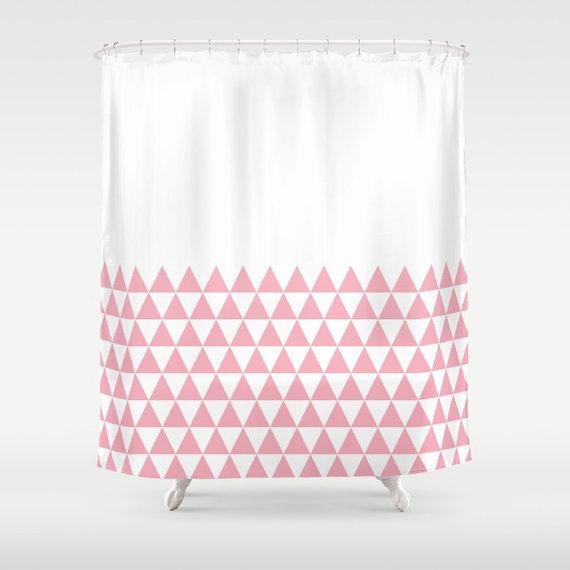 36 Colours Geometric Triangles Half Pattern Shower Curtain