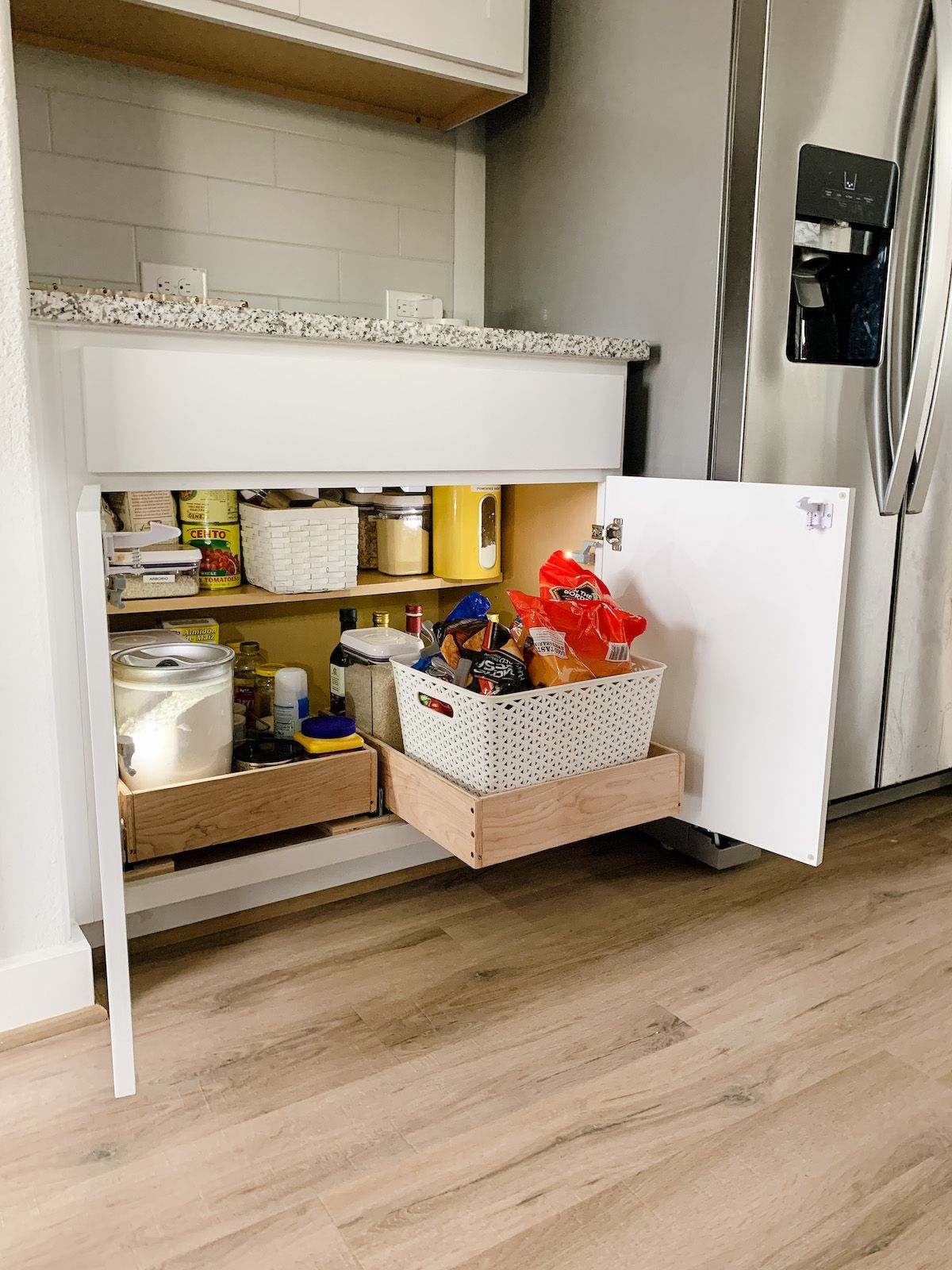 How to make pull out drawers for your kitchen cabinets in ...