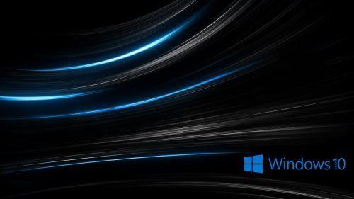 Windows 10 Wallpaper Hd 3d For Desktop With Abstract Black Background Em 2020 Papel De Parede Do Windows Windows Papeis De Parede