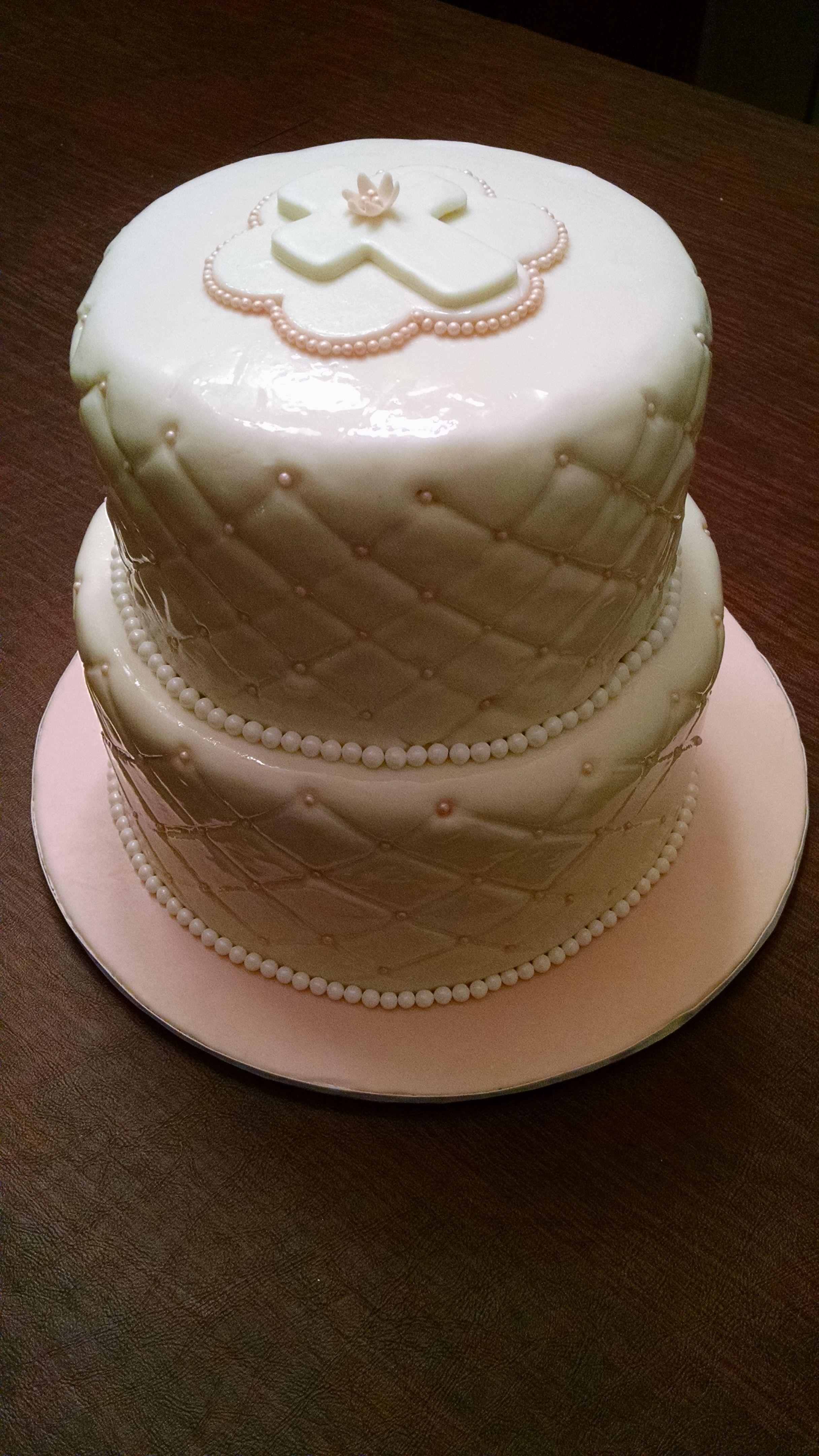 Adeline's French Vanilla Baptism Cake